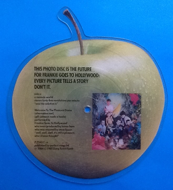Frankie Goes To Hollywood Welcome to the Pleasure Dome Apple Shaped Picture Disc
