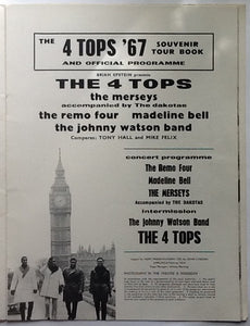 4 Tops Merseys Madeline Bell Original Concert Programme UK Tour 1967