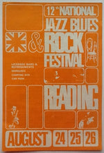 Load image into Gallery viewer, Genesis Faces Rory Gallagher Original 12th Reading Festival Handbill- Flyer 1973