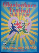 Load image into Gallery viewer, Blondie REM Fatboy Slim Original Concert Handbill Flyer Glastonbury 1999