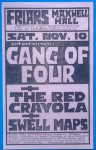 Gang of Four Concert Handbill Flyer Friars Ayelsbury 1979