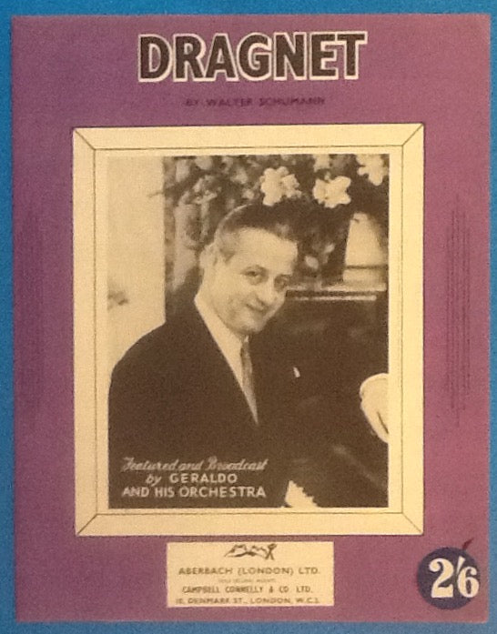 Geraldo & his Orchestra Dragnet Original Mint Sheet Music 1953