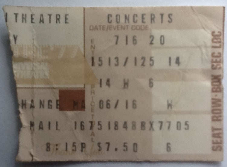 Heart Original Used Concert Ticket Universal Amphitheatre 16th July 1977