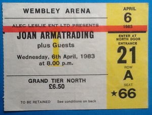 Joan Armatrading Original Used Concert Ticket London 1983