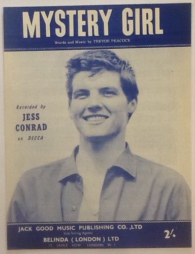 Jess Conrad Mystery Girl Original Mint Sheet Music 1961