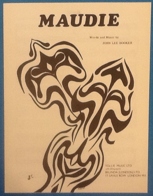 John Lee Hooker Maudie Original Mint Sheet Music 1959