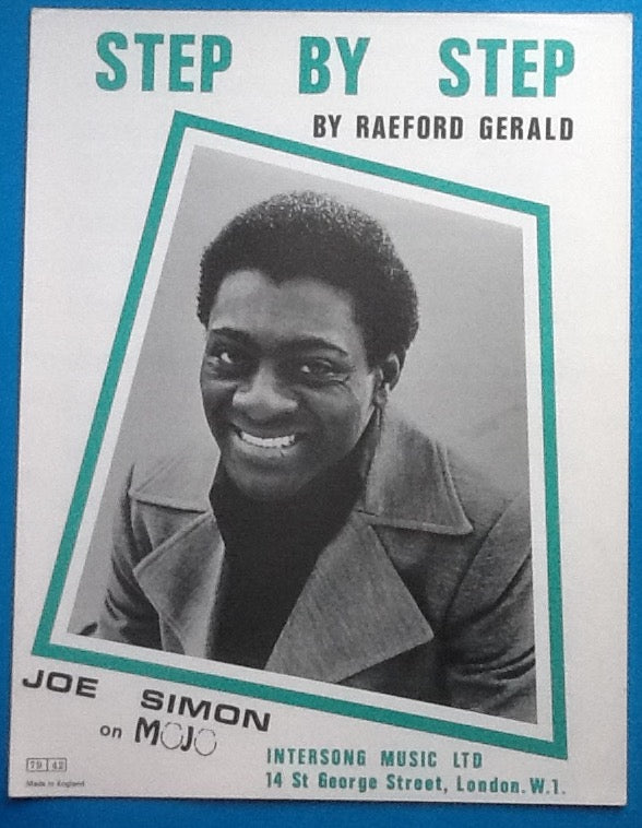 Joe Simon Step By Step Sheet Music 1973