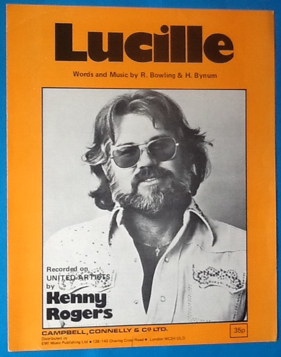 Kenny Rogers Lucille Original Sheet Music 1976