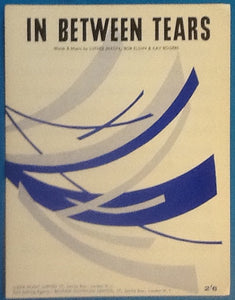 Luther Dixon In Between Tears Original Mint Sheet Music 1961