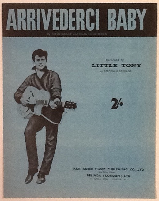 Little Tony Arrivederci Baby Original Mint Sheet Music 1959