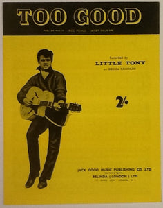 Little Tony Too Good Original Mint Sheet Music 1960