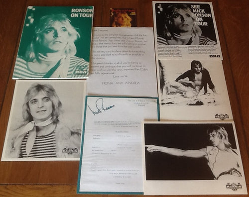 Mick Ronson Slaughter on 10th Avenue Original Promo Publicity Press Kit UK Tour 1974
