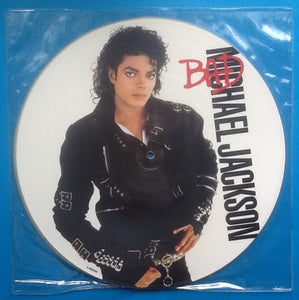 Michael Jackson Bad 10 Track NMint Picture Disc Album  UK 1987
