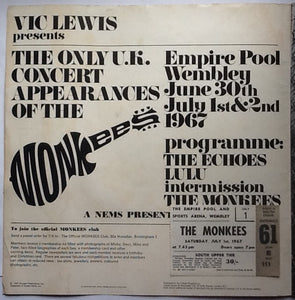 Monkees Lulu Echoes Original Concert Programme and Ticket Wembley London 1967