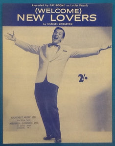 Pat Boone (Welcome) New Lovers Original Mint Sheet Music 1960