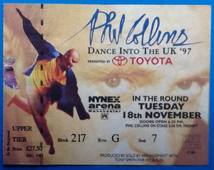 Phil Collins Original Used Concert Ticket Manchester 1997