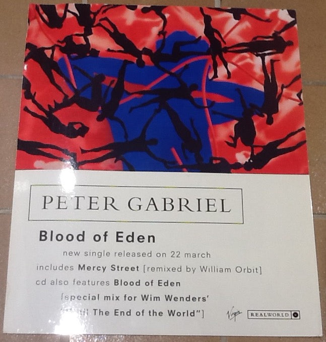 Peter Gabriel Blood of Eden Promo In-Store Shop Display Virgin 1992