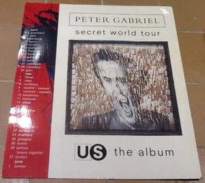 Peter Gabriel Us Album & Secret World Tour Promo In-Store Shop Display 1993