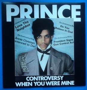 "Prince Controversy 12"" NMint 2 Track Picture Sleeve 1981"