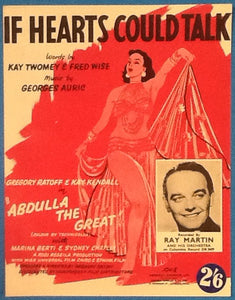 Ray Martin If Hearts Could Talk Original Mint Sheet Music 1954