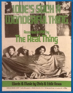 Real Thing Love's Such A Wonderful Thing Original Mint Sheet Music 1977