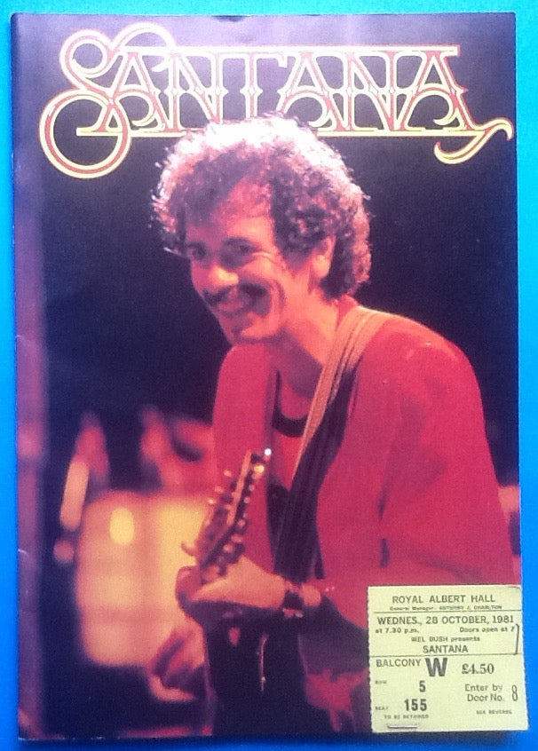 Santana Original Concert Programme and Ticket London 1981
