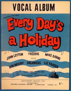Every Day's a Holiday Original Mint Film Sheet Song Book Vocal Album 1965