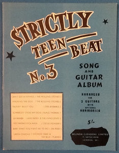Strickly Teen Beat No. 3 Original Mint Sheet Music Song Book with 8 Songs