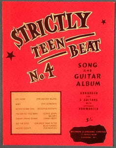 Strickly Teen Beat No. 4 Original Mint Sheet Music Song Book with 7 Songs