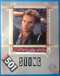 Sting Original Concert Programme with Insert Blue Turtles World Tour 1985-86