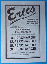 Load image into Gallery viewer, Supercharge! Original Concert Handbill Flyer Eric's Liverpool 1976