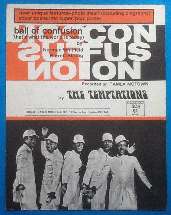 Temptations Ball of Confusion Sheet Music 1970