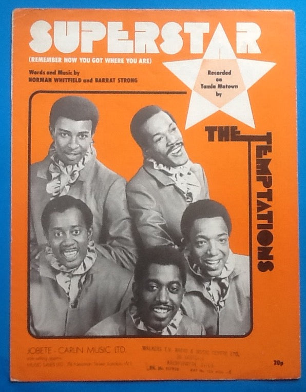 Temptations Superstar Sheet Music 1971