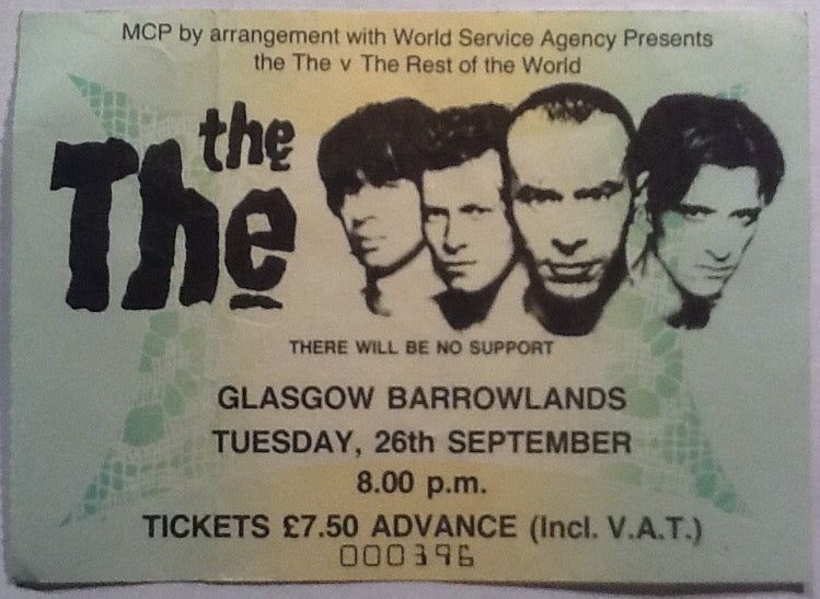 The The Orginal Used Concert Ticket Glasgow Barrowlands 1989