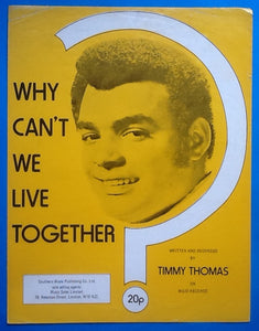 Timmy Thomas Why Can't We Live Together Sheet Music 1972