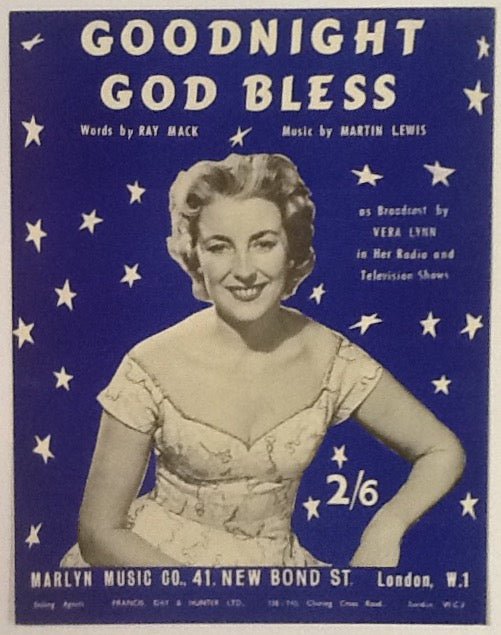 Vera Lynn Goodnight God Bless Original Mint Sheet Music 1958