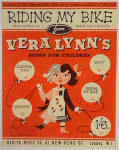 Vera Lynn Barry Gray Riding My Bike Original Mint Sheet Music 1955