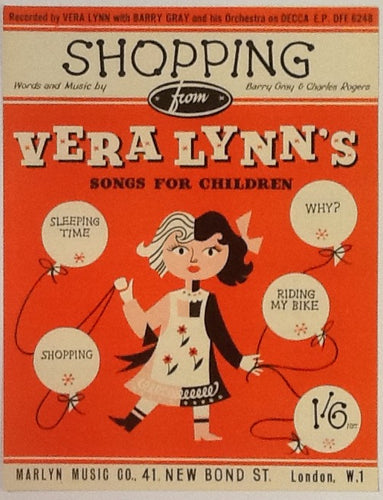 Vera Lynn Barry Gray Shopping Original Mint Sheet Music 1955