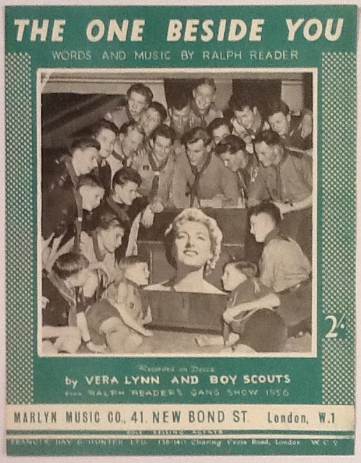 Vera Lynn & Boy Scouts The One Beside You Original Mint Sheet Music 1957