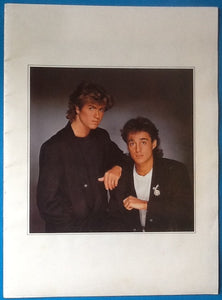 Wham George Michael Andrew Ridgeley Concert Programme Big Tour UK 1984