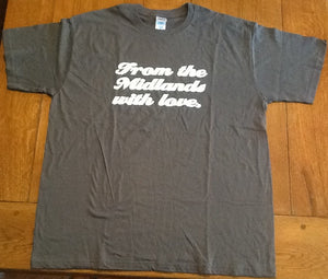 Wonder Stuff From The Midlands With Love Promo T Shirt 2012
