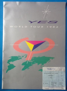 Yes Original Concert Programme and Ticket World Tour 1984