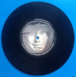 "Yoko Ono Mrs. Lennon 2 Track 7"" NMint Apple Single UK 1971"