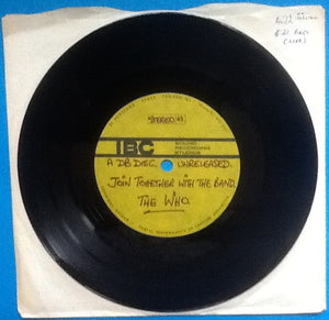"Who 7"" Acetate Join Together With The Band IBC 1970"