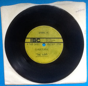 "Who 7"" Acetate Overture New Mix IBC 1970"