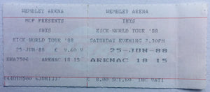 INXS Original Unused Concert Ticket Wembley Arena London 25th Jun 1988