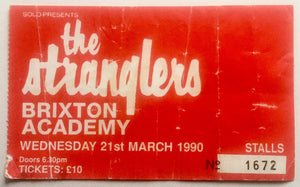 Stranglers Original Used Concert Ticket Brixton Academy, London 21st Mar 1990