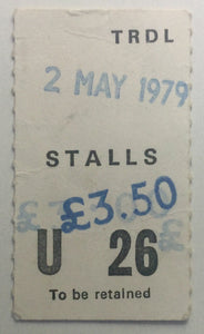 Magazine Simple Minds Original Used Concert Ticket Theatre Royal London 2nd May 1979