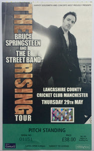 Bruce Springsteen Original Used Concert Ticket Lancashire Country Cricket Ground 29th May 2003