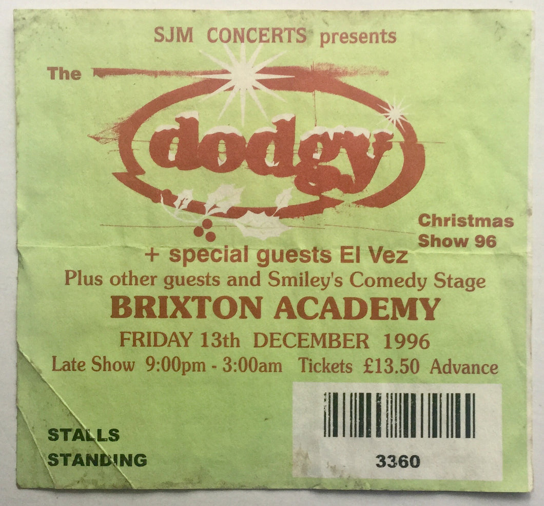 Dodgy Original Used Concert Ticket Brixton Academy London 13th Dec 1996